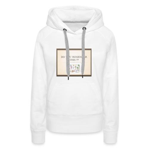 P1 - Sweat-shirt à capuche Premium pour femmes