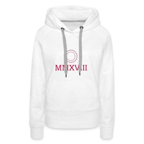 MMXVIII - logo - Sweat-shirt à capuche Premium pour femmes