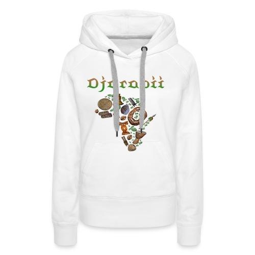 djarabii savane - Sweat-shirt à capuche Premium pour femmes