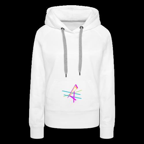 ligne multicolore - Sweat-shirt à capuche Premium pour femmes