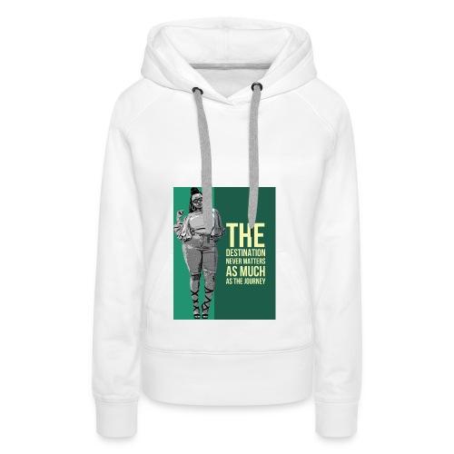 girlquote - Sweat-shirt à capuche Premium pour femmes