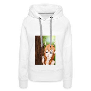 Womens tank: Deer-girl Design by Tina Ditte - Women's Premium Hoodie