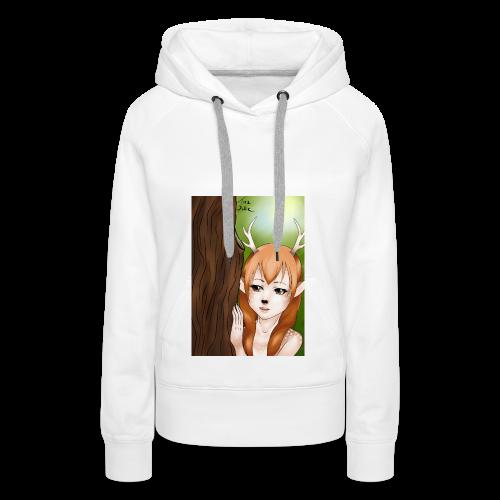 Womens tank: Deer-girl Design by Tina Ditte - Women's Premium Hoodie