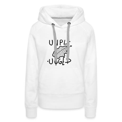 UNPLUGGED 2 - Sweat-shirt à capuche Premium pour femmes