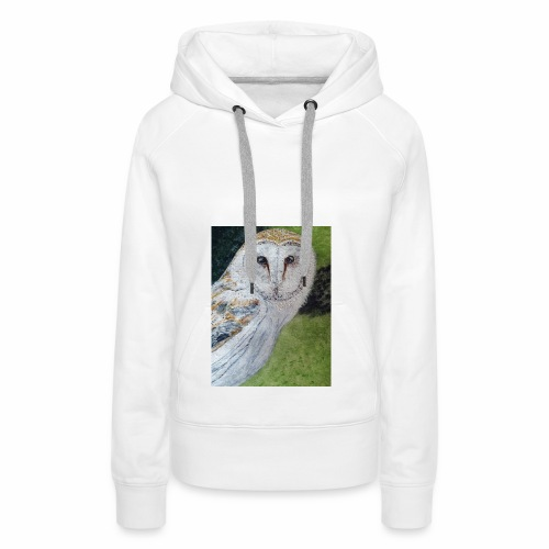 Curious Scottish owl - Women's Premium Hoodie