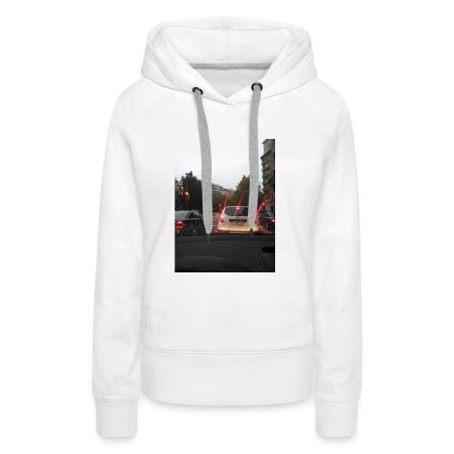 camiseta moderna - Sudadera con capucha premium para mujer