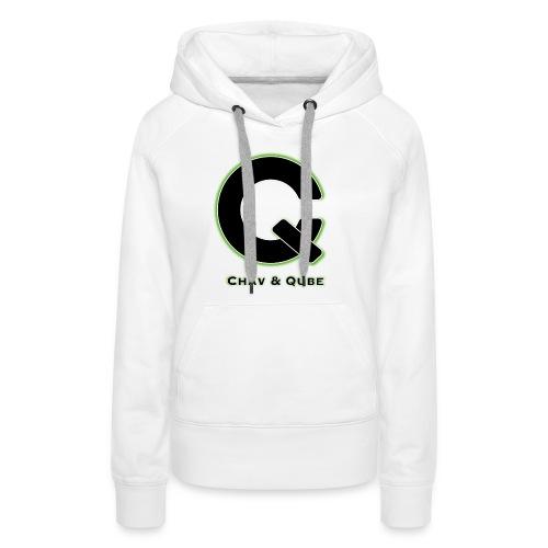 Chav & Qube Logo Zwart - Vrouwen Premium hoodie