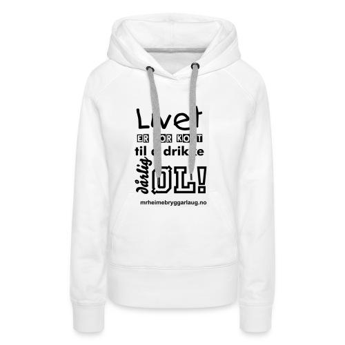 Møre&Romsdal Heimebryggarlaug t-shirt - Premium hettegenser for kvinner
