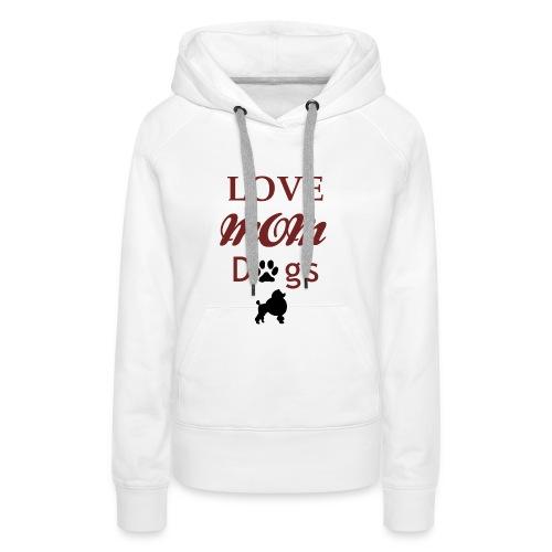 Mama Liebe Hunde Chiwawa transparent modi - Frauen Premium Hoodie