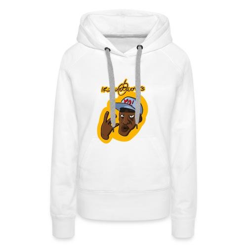 Nigga Rap - Felpa con cappuccio premium da donna