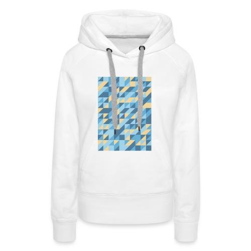 Triangle Design - Felpa con cappuccio premium da donna