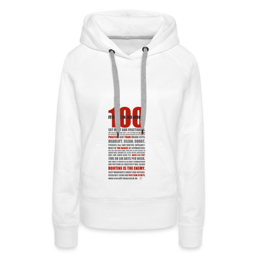100 WORDS light shirt - Frauen Premium Hoodie