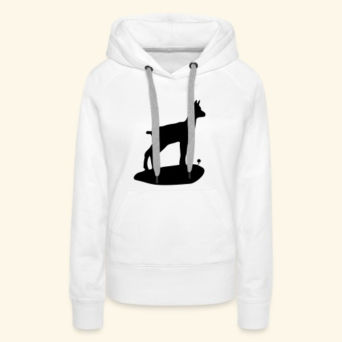 Le chamois bebe et la fleur - Sweat-shirt à capuche Premium pour femmes