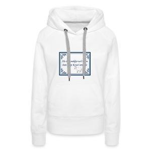 Tegeltje-Geit - Vrouwen Premium hoodie