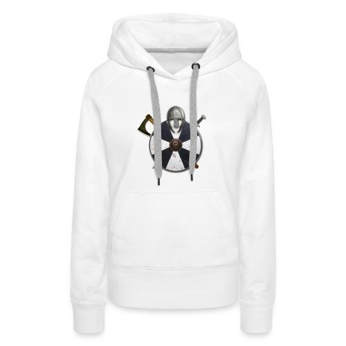 vikingr - Sudadera con capucha premium para mujer