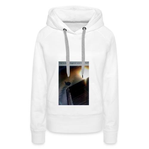 'tis morgend voor iedereen - Vrouwen Premium hoodie