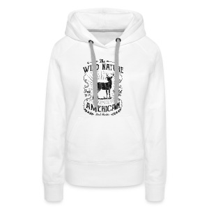 WILD NATURE - Jäger Hunter Hunting Wildnis Shirt - Frauen Premium Hoodie