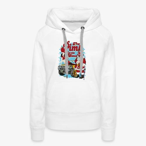 PIMP SANTA- Partie Weihnachtsmann Pin-Up Shirt - Frauen Premium Hoodie