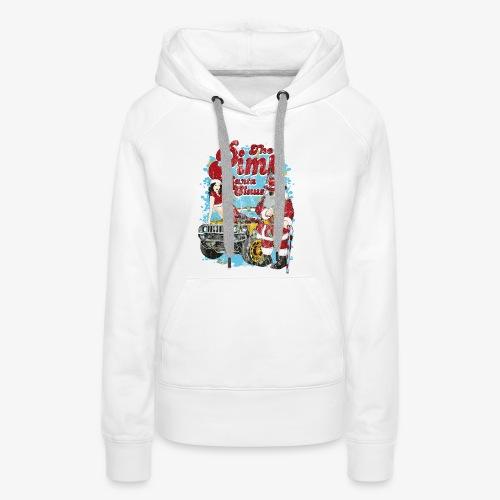 THE PIMP SANTA- Partie Weihnachtsmann Pin-Up Shirt - Frauen Premium Hoodie