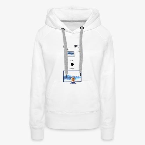 Lie, MAMA - Sweat-shirt à capuche Premium pour femmes