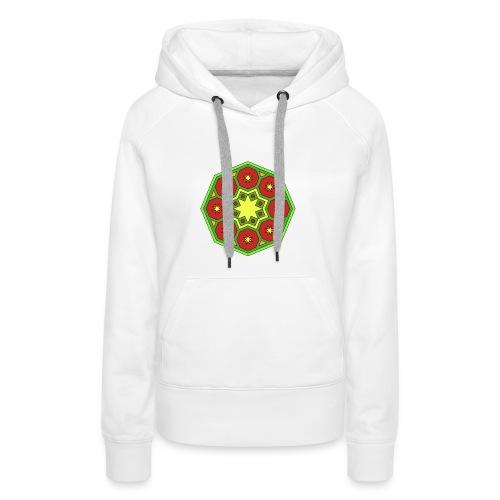 mandala retro - Sudadera con capucha premium para mujer