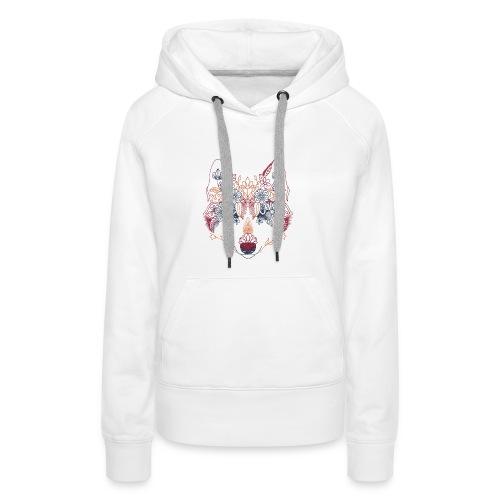 Wolf Wow - Sudadera con capucha premium para mujer