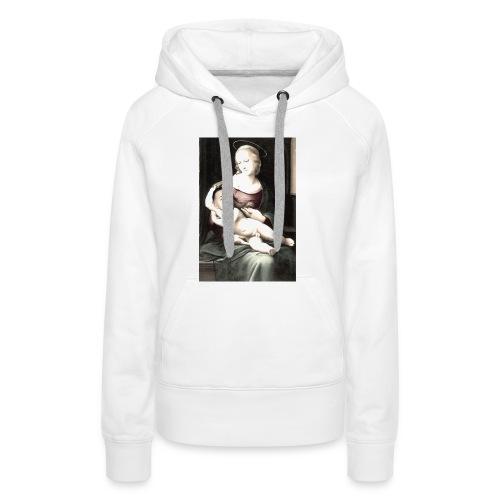 Madonna met middeleeuwse baby. - Vrouwen Premium hoodie