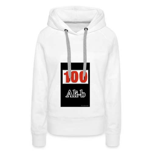 Limited edition Ali-b 100 subscribes merchandise - Women's Premium Hoodie