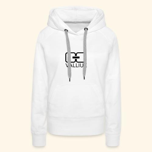 Valliue white collection - Sweat-shirt à capuche Premium pour femmes