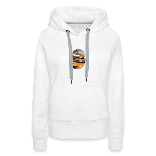 Naranja - Sudadera con capucha premium para mujer