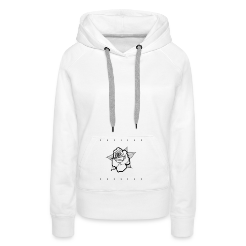 Small Black Rose - Sweat-shirt à capuche Premium pour femmes