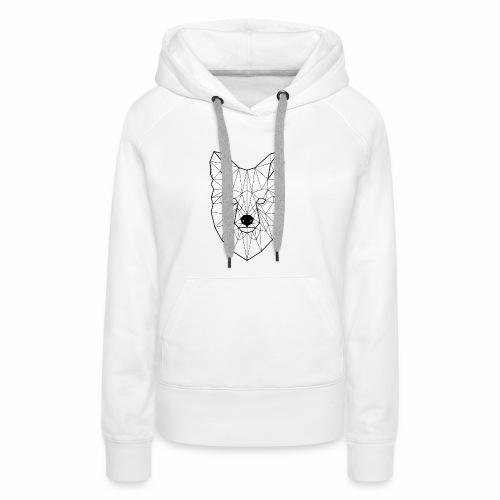 iacobusk - fox / lis - Bluza damska Premium z kapturem