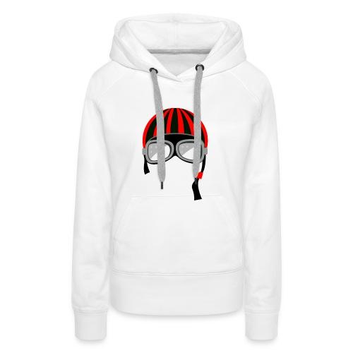 red_helmet-png - Felpa con cappuccio premium da donna