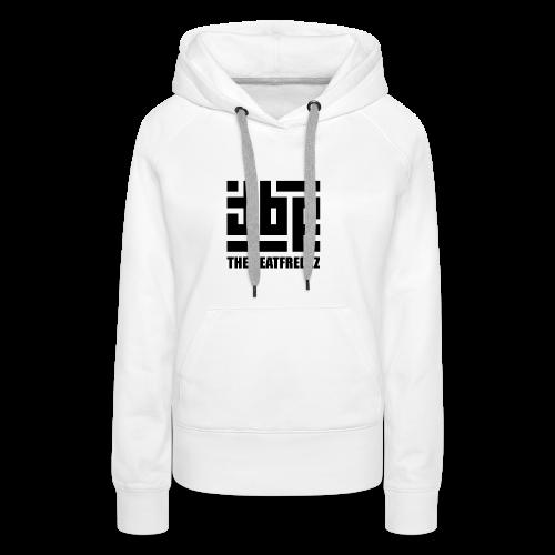 the beatfreekz logo 3 black - Women's Premium Hoodie
