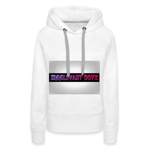 Irrelevant Boyz Grey And Luminous - Women's Premium Hoodie