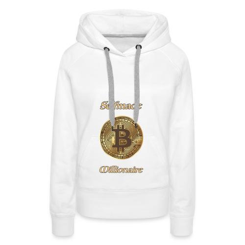 Bitcoin selfmade millionare - Frauen Premium Hoodie
