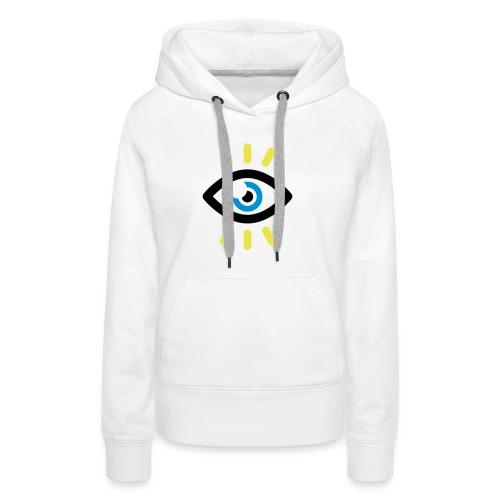 SYMBOLE OEIL OUVERT - Sweat-shirt à capuche Premium pour femmes