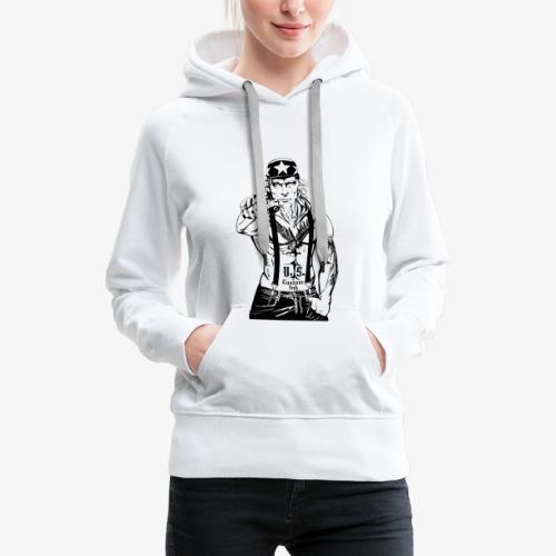 rebelle atitude - Sweat-shirt à capuche Premium pour femmes
