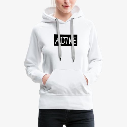 Box Logo Schwartz - Frauen Premium Hoodie