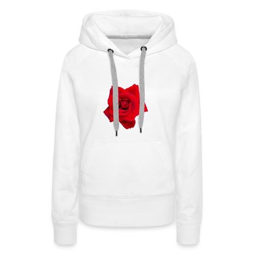 Red Roses - Bluza damska Premium z kapturem