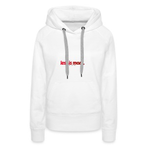 Lessismore Spring Collection - Women's Premium Hoodie