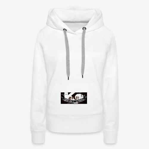 logo karlito black n gold - Sweat-shirt à capuche Premium pour femmes