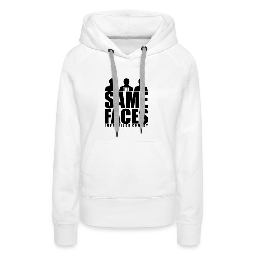 Same Faces Logo - Black - Women's Premium Hoodie