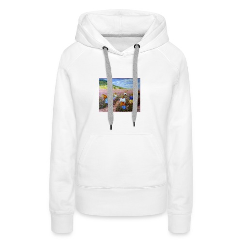 LA CUEILLETTE DES ROSES A GRASSE AUTREFOIS 1mx81 2 - Sweat-shirt à capuche Premium pour femmes