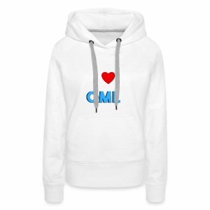 I LOVE OML - Vrouwen Premium hoodie