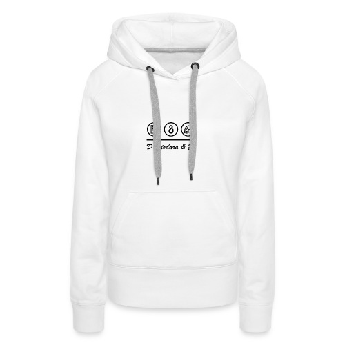 Transparent Bildschrift - Frauen Premium Hoodie