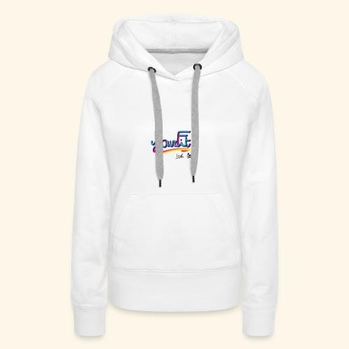 YourFit's Logo - Felpa con cappuccio premium da donna