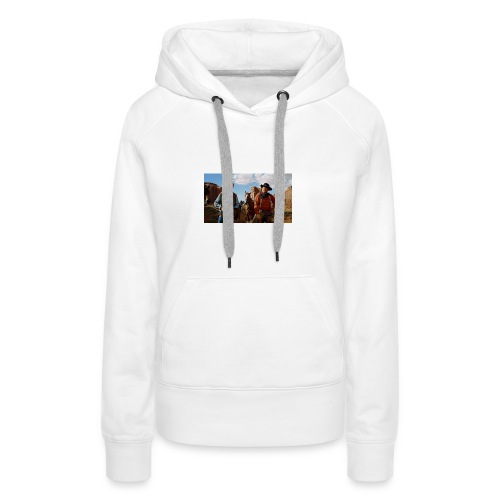 centauros desierto - Sudadera con capucha premium para mujer
