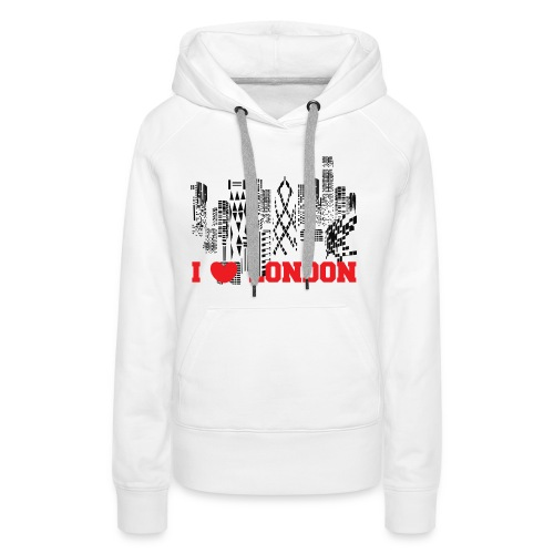 I LOVE LONDON SKYCRAPERS - Sudadera con capucha premium para mujer