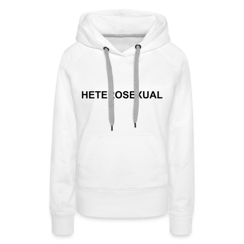 HETEROSEXUAL WHITE - Frauen Premium Hoodie